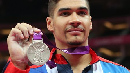 Louis Smith shows off his silver medal at the Olympics Games in London back in 2012. Picture: JAMIE