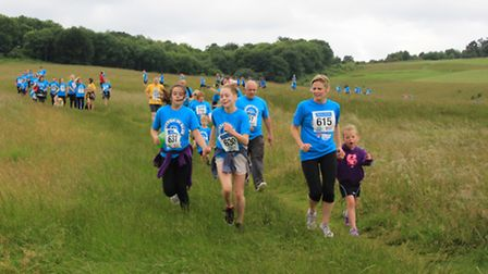 The 5k took place on The Heath. PICTURE: Clive Porter.