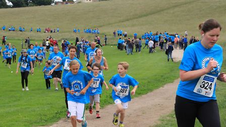 A sea of blue on The Heath. PICTURE: Clive Porter.