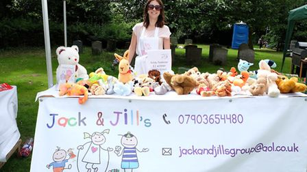Laura Bluer of Jack and Jills baby and toddler group at Reed Flower Festival