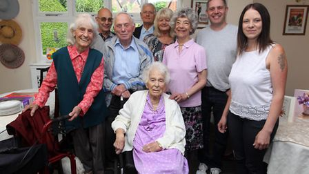 May Parsons celebrates her 103rd Birthday with family