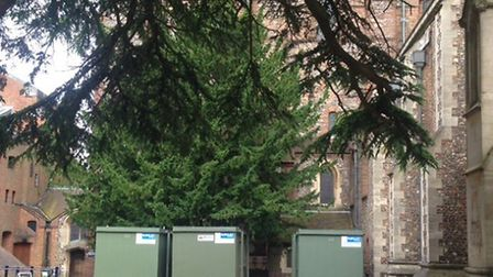 The St Albans Cathedral's proposed Welcome Centre will be placed here.
