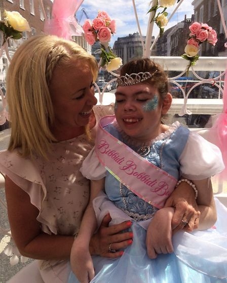 Rosie Snell''s special Princess Day, organised by Starlight Children's Foundation, included a horse