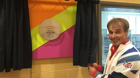 Paul Hall opening the New Energy Sports Hall