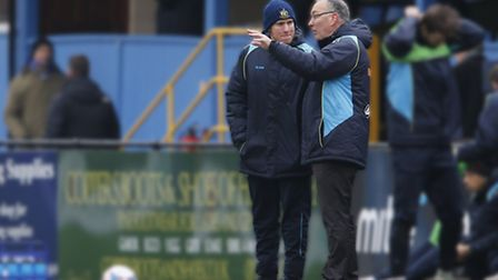 Ian Allinson took charge of the Saints for the first time against Concord Rangers in February. Pictu