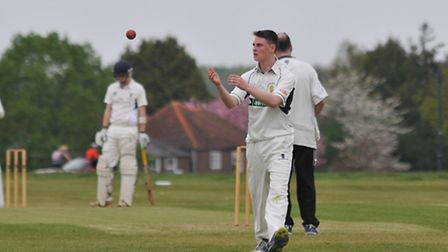 Redbourn's Callum Moyle took four wickets for just four runs against Met Police Bushey. Picture: DAN