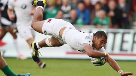 Joe Marchant scores the first try of the World Rugby U20 Championship. Picture: WORLD RUGBY/GETTY IM