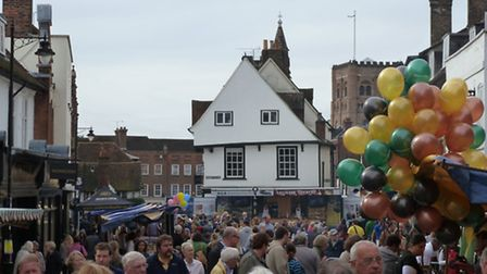 Market Place, pictured during the St Albans Food and Drink Festival