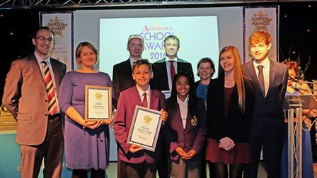 School of the Year Secondary finalists with Kingston Smith manager Simon Cunningham