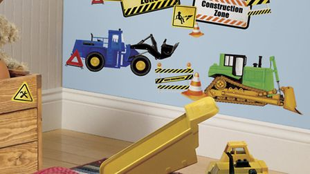 Construction wall decals from Becky and Lolo