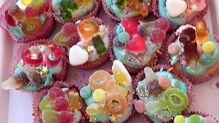 Holly Martin baked 100 cupcakes to raise money for the Alzheimer's society