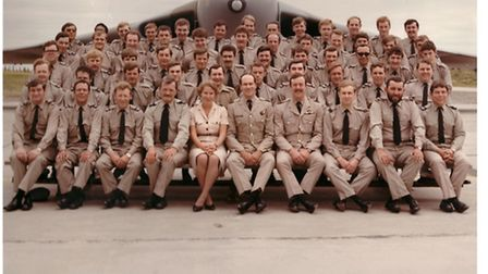 William James Boles, pictured front row, first on the right, with RAF colleagues.