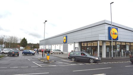The Lidl junction, in Huntingdon.
