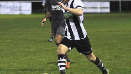 New Eynesbury Rovers striker Craig Smith in action for previous club Peterborough Northern Star, who