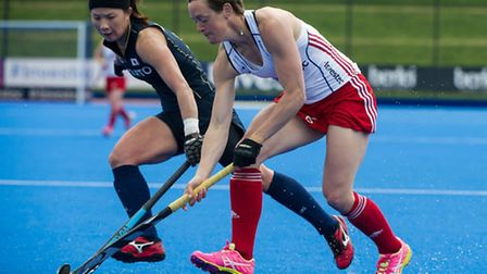 Hannah MacLeod (right) is in the GB women's hockey squad for the Olympics. Picture: Simon Parker