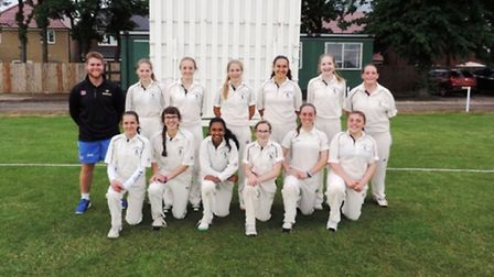 The Hunts Under 17 Girls' team, who beat Hertfordshire earlier this summer, are back row, left to ri