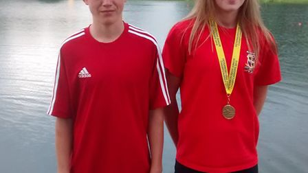 Sam Hasted (left) and Lauren Maddison (right).