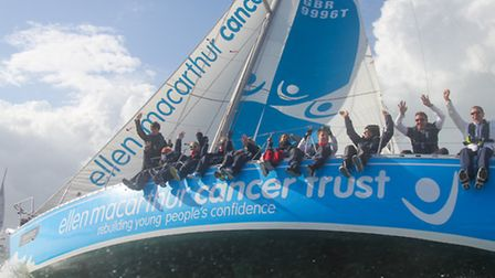 St Albans' Jonathan Light takes part in Round the Island yacht race ( fourth young person from the l