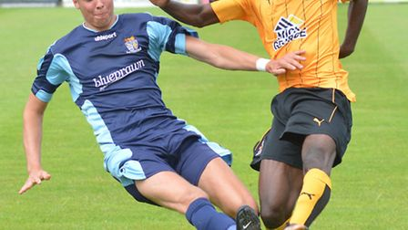 Ryan Hawkins made his comeback from serious injury for St Neots in their friendly defeat against Cam