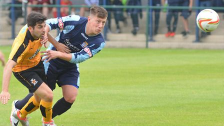 Summer signing Charlie Butt in action for St Neots Town. Picture: HELEN DRAKE