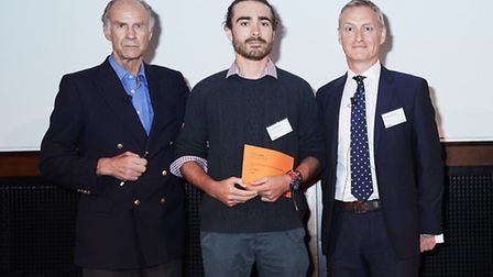 Young Environmental Photographer of the Year went to Luke Massey for his photo of a peregrine on a c