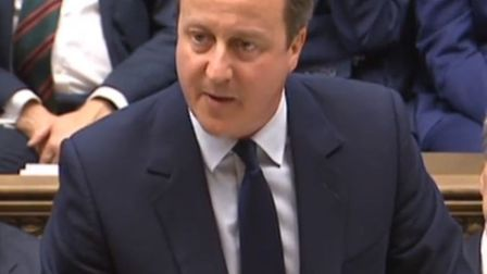 Prime Minister David Cameron makes a statement to MPs in the House of Commons, London following the