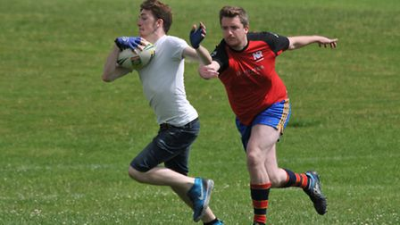 Action from the Royston touch rugby tournament
