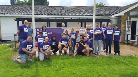 There was a good number of people helping out at Verulamians Rugby Club as part of the NatWest Force