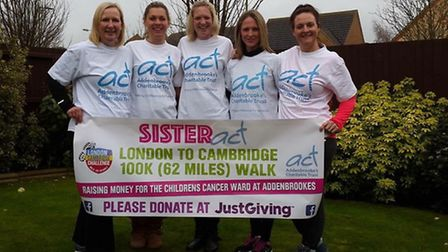 From left to right: Wendy Gurr, Beckie Sole, Louise Westbury, Fran Dasseville and Sally Taylor.