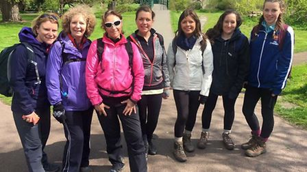 The team have been busy training for the 54k trek.