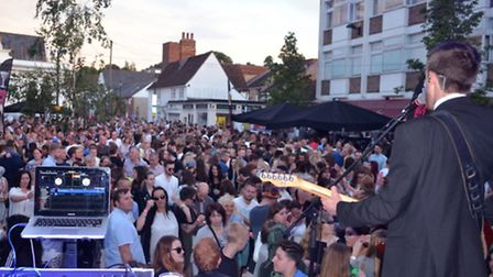 Crowds flocked to Ad Hoc's Summer Soul to the Square event in Royston.