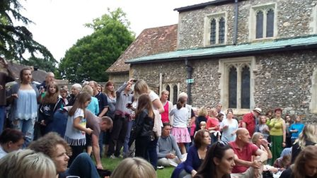 St Michael's Folk Evening attracted a large crowd at the church