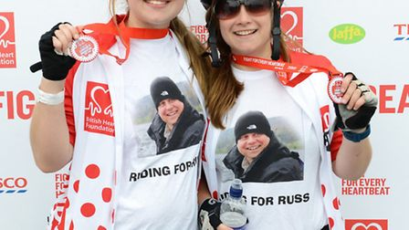 Ellie and Abbie took part in the London to Brighton Bike Ride in memory of their father, Russ