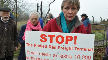 There have been anti-rail freight demonstrations over the years