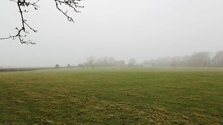 The proposed rail freight site in Green Belt land, Park Street