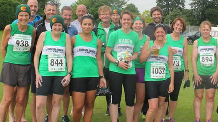 Some of the Riverside Runners members who took part in the Colworth Marathon Challenge races.