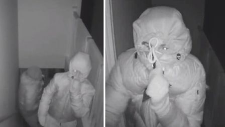 Police have released CCTV of two men they would like to speak to in connection with a burglary in Hu