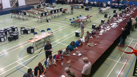 The count last night at One Leisure, in St Ives.