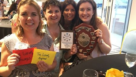 The Listing team were proud as punch to win big.