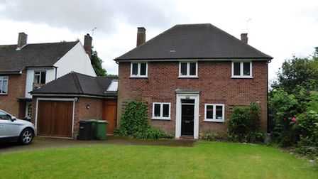 The property is set back from the road, on one of St Albans' most prestigious streets