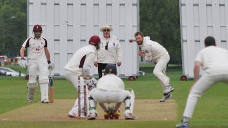 Matt Creese produced a backs-to-the-wall innings against Bishop's Stortford to seal a draw. Picture: