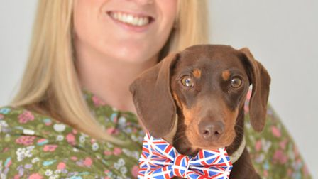 Amazon shortlisted dog, Bob, and owner Collette Thomson, from Godmanchester
