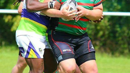 Rhod Howcroft scored one of St Ives Roosters' tries in their defeat at St Albans Centurions. Picture