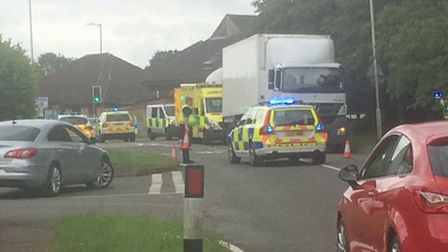 There has been a collision in Jersey Farm, St Albans