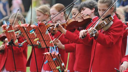 A musical performance for guests at the 125th anniversary celebrations of St Hilda's School