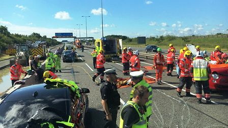 The scene of the collision on the A1. Pic: BCH Roads Policing