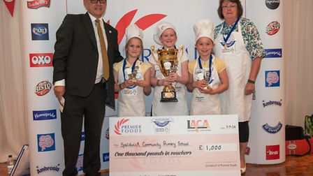Peter McGrath, LACA chairman, Daisy Ritchie, Maddie Thorpe, Rebecca Lucas, and Alison Leaver,
