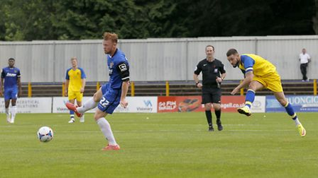 Louie Theophanous was captain for St Albans City against Watford. Picture: LEIGH PAGE