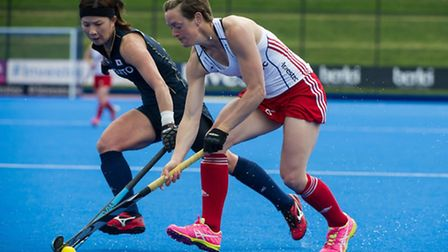 Hannah Macleod picked up her 50th cap for Great Britain in the victory over Netherlands. Picture: SI