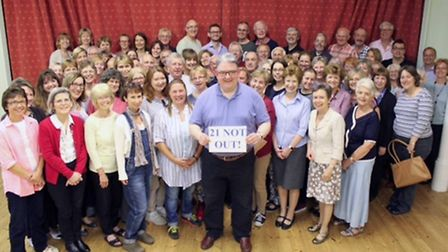 George Vass and choral society members